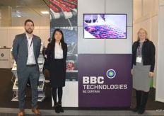 Nick Hall, Helen Wang en Maura Furniss van BBC Technologies.